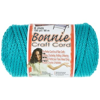Bonnie Macrame Craft Cord 6mm x 100yd - Turquoise