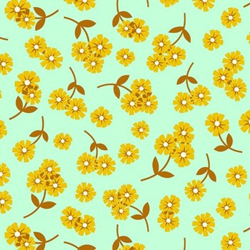Butterscotch Daisies - Mint