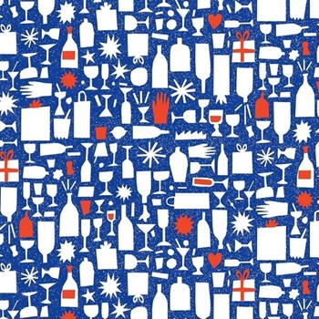 Champagne Bottles in Blue