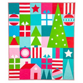 Christmas Cheer Quilt Kit - Solids