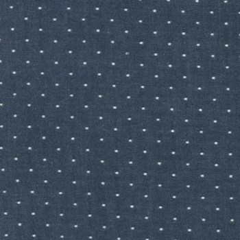 Cotton Chambray Dots - Indigo