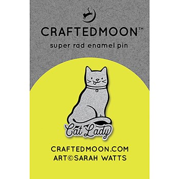 Craftedmoon Enamel Pins - Cat Lady