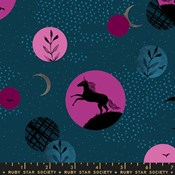 Crescent Unicorn Moon - Dark Teal
