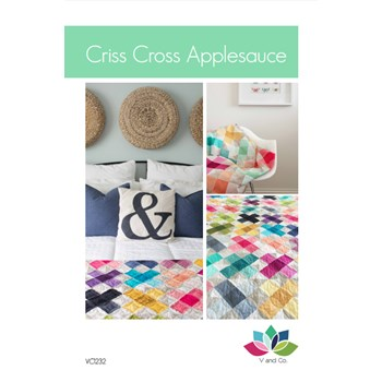 Criss Cross Applesauce Quilt Pattern by V and Co