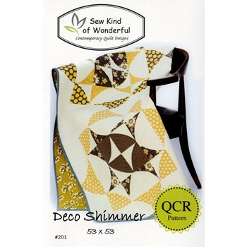 Deco Shimmer Quilt Pattern by Sew Kind of Wonderful