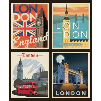 Destinations Pillow Panel - London