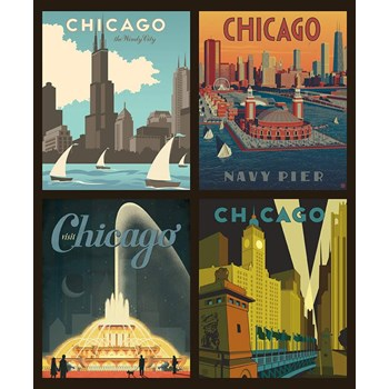 Destinations Pillow Panel - Chicago