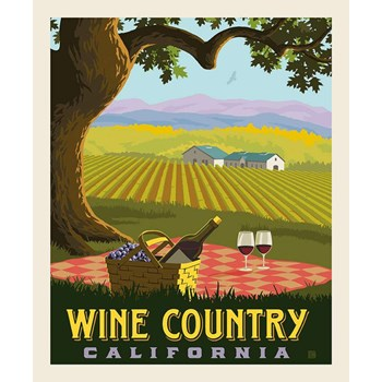 Destinations Poster Panel - Wine Country