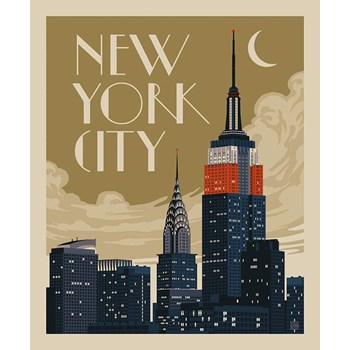 Destinations Poster Panel - New York City Skyline