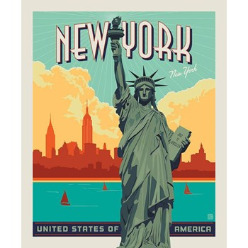 Destinations Poster Panel - Lady Liberty