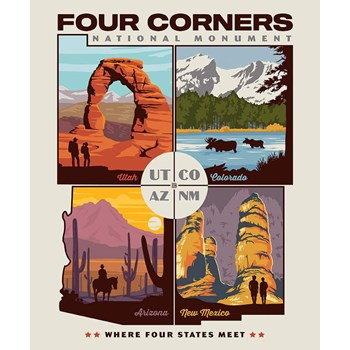 Destinations Poster Panel - Four Corners