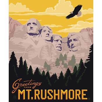 Destinations Poster Panel - Mount Rushmore
