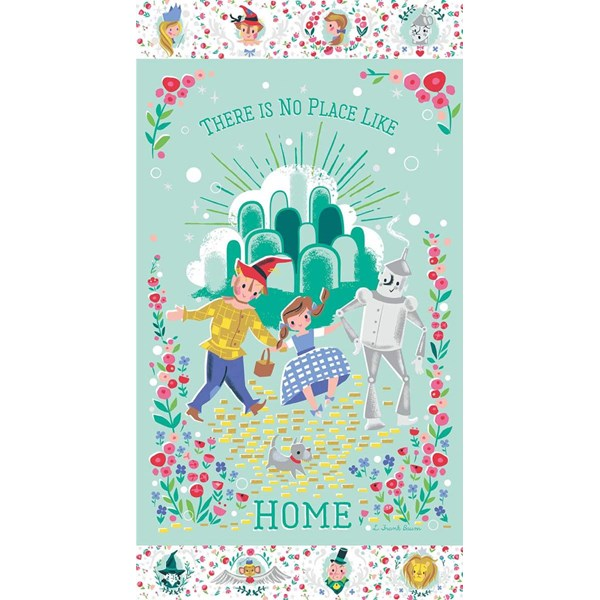 "Dorothy's Journey Home Mint Sparkle 24"" Panel"