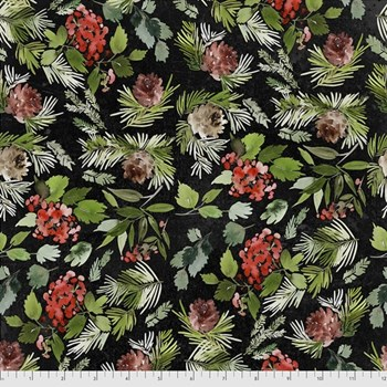 Evergreen Floral - Black