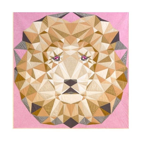 Lion Abstractions Quilt Kit in Fall Textures