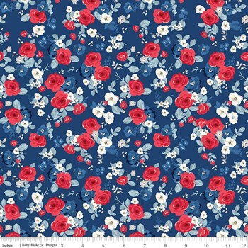 Floral - Navy