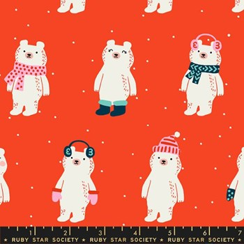 Flurry Snow Bears - Ruby