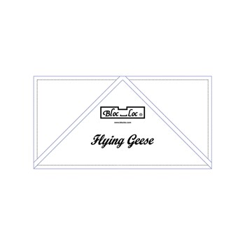 Flying Geese Ruler by Bloc Loc - 2-1/2'' X 5''