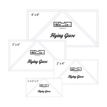 Flying Geese Ruler Set by Bloc Loc - Set 1
