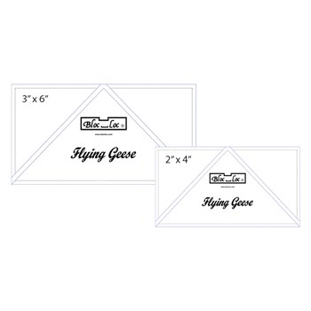 Flying Geese Ruler Set by Bloc Loc - Set 3