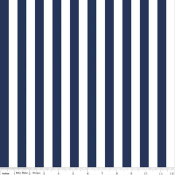 "1/2"" Stripe - Navy"