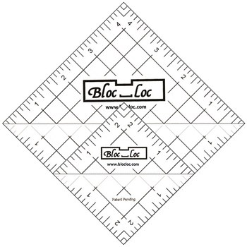 Half Square Triangle Ruler Set by Bloc Loc - Set 6