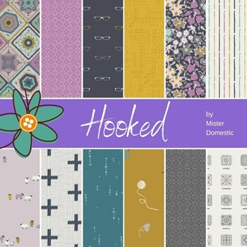 Hooked Fat Quarter Bundle | Mister Domestic | 12 FQs