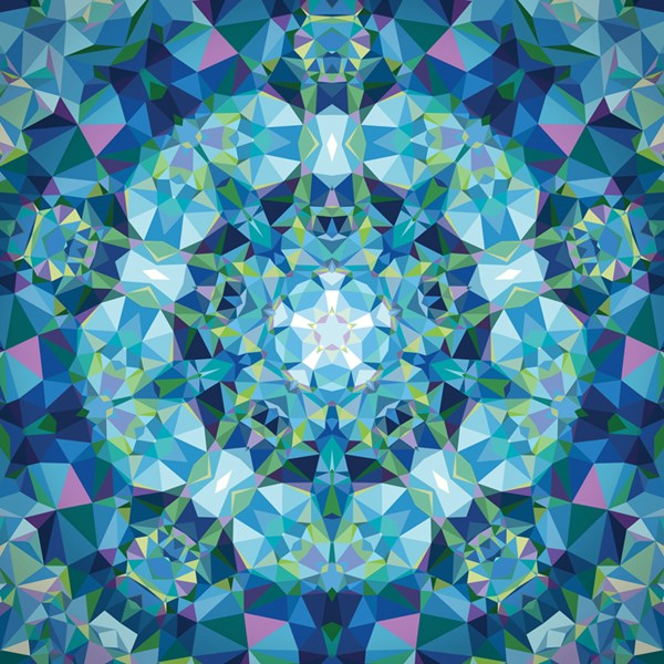 Kaleidoscope - Blue