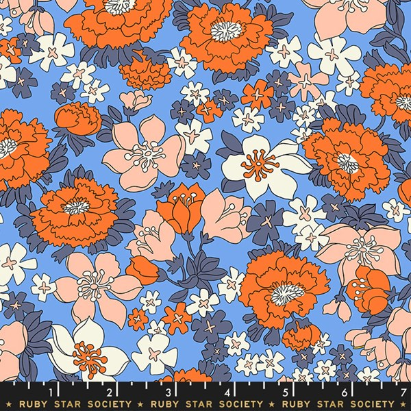 Lindley Lawn Floral - Blue