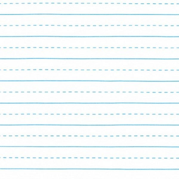 Lined Paper - Blue