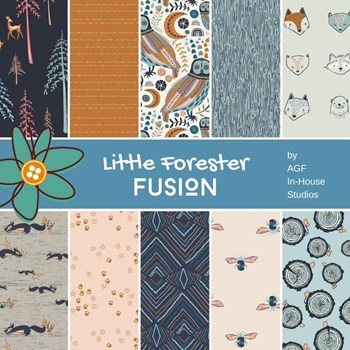 Little Forester Fusion Fat Quarter Bundle | AGF In-House Studio | 10 FQs