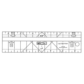 Log Cabin Ruler by Bloc Loc - 1/2'' & 1''