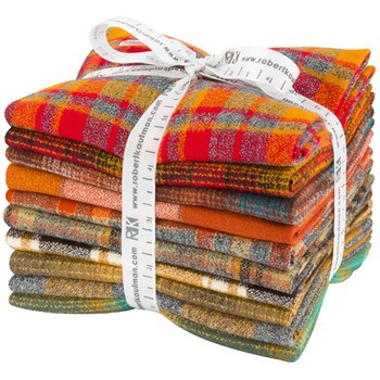Mammoth Flannel Fat Quarter Bundle - Yellow Colorstory