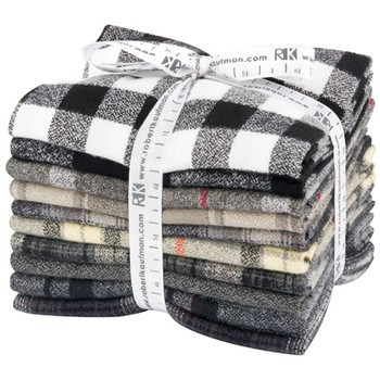 Mammoth Flannel Fat Quarter Bundle - Black Colorstory