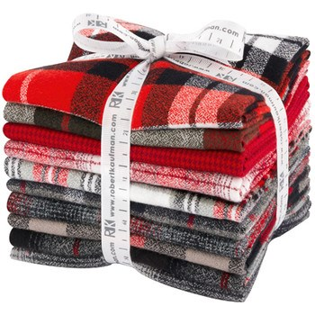 Mammoth Flannel Fat Quarter Bundle - Red Colorstory