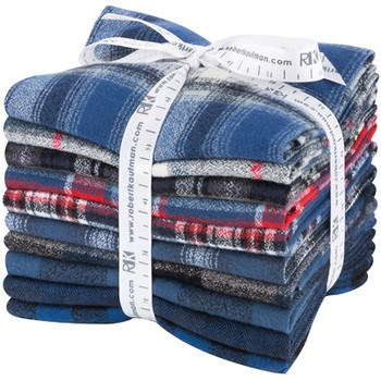 Mammoth Flannel Fat Quarter Bundle - Blue Colorstory