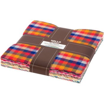 Mammoth Flannel Junior Layer Cake - Warm Colorstory