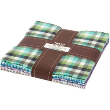 Mammoth Flannel Junior Layer Cake - Cool Colorstory