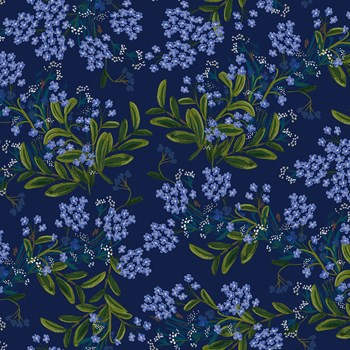 Meadow Cornflower - Navy Rayon