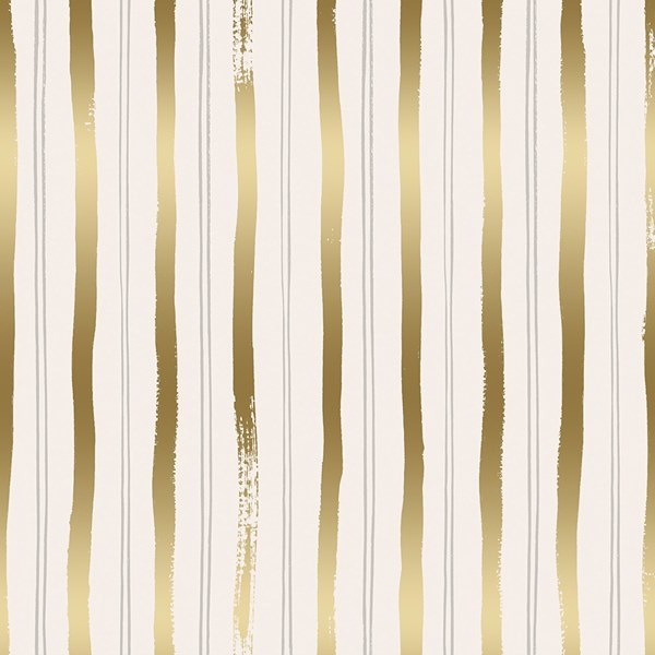 Meadow Stripe - Gold Metallic