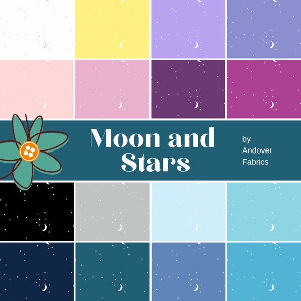 Moon and Stars Fat Quarter Bundle | Andover | 16 FQs