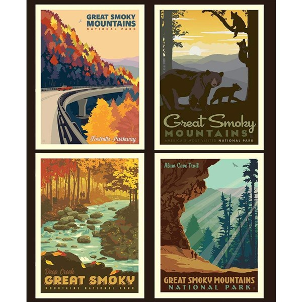 National Parks Pillow Panel - Great Smoky Mountains