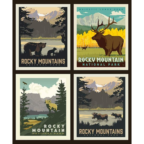 National Parks Pillow Panel - Rocky Mountains