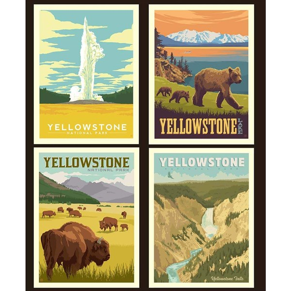 National Parks Pillow Panel - Yellowstone