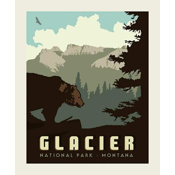 National Parks Poster Panel - Glacier