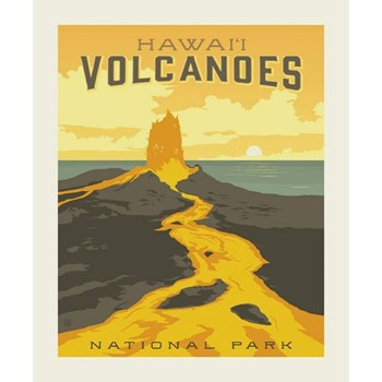 National Parks Poster Panel - Hawaii Volcanoes