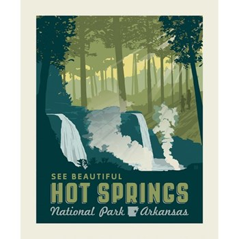 National Parks Poster Panel - Hot Springs