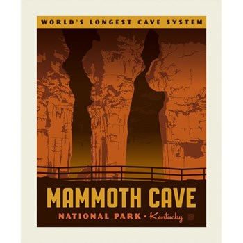 National Parks Poster Panel - Mammoth Cave