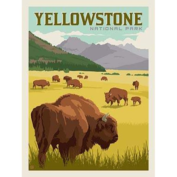 National Parks Poster Panel - Yellowstone