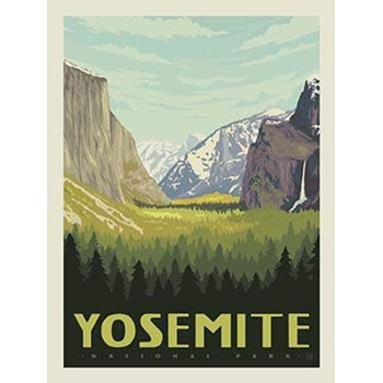 National Parks Poster Panel - Yosemite